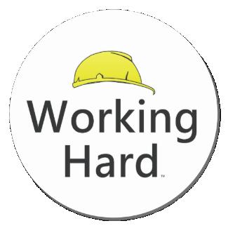 TEE Working Hard Classic Round Sticker