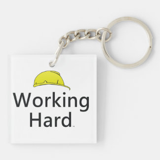 TEE Working Hard Keychain