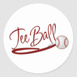 Teeball Round Sticker
