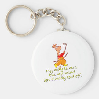 Tee'd off keychain