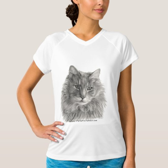 TeeGee, Long-Haired Gray Cat T-Shirt