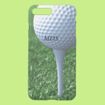 Teeing Off Golf Ball Monogram Clear iPhone 8 Plus/7 Plus Case