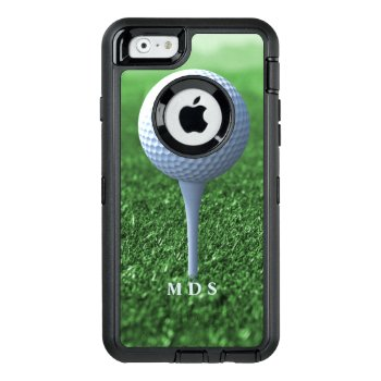 Teeing Off Golfer's Green Personalized Otterbox Defender Iphone Case by DadsBBQ at Zazzle