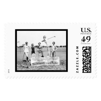 Teeing Off Ice Golf 1926 Postage