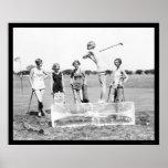 Teeing Off Ice Golf 1926 Print