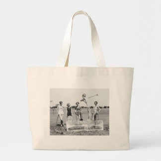 Teeing Off On ICE Womens Golf in Bathing Suits! Jumbo Tote Bag