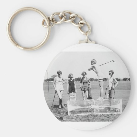Teeing Off On ICE Womens Golf in Bathing Suits! Keychain
