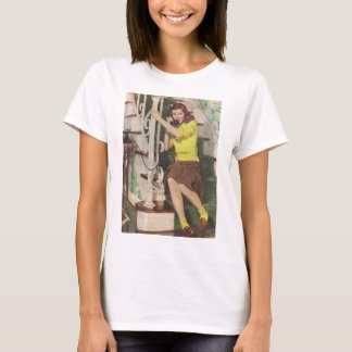 Teen-Age Girl On Telephone T-Shirt 1941