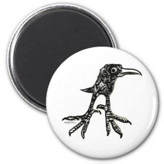 Teen Bird 2 Inch Round Magnet