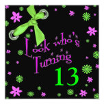 "Teen Birthday Invitation - INSERT AGE 5.25"" Square Invitation Card"