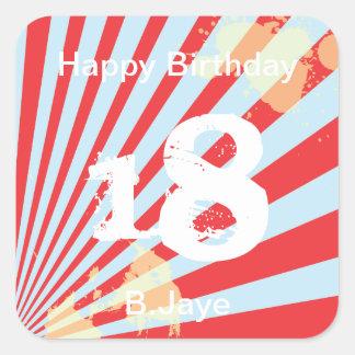 Teen Birthday Party Favor   |  Sticker