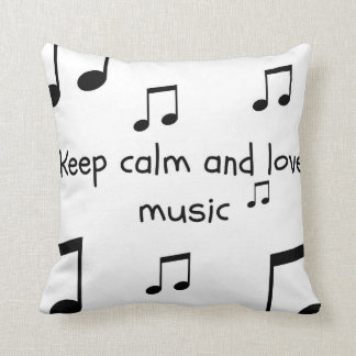 Teen Black and White Music Pillow