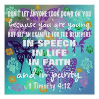 Teen Christian Purity bible verse Poster