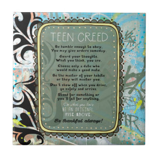 Teen Creed Tile
