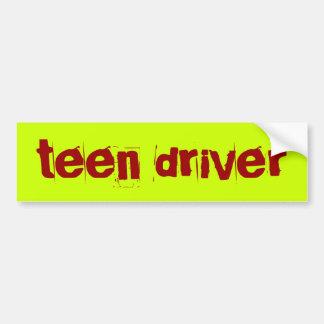 teen driver car bumper sticker