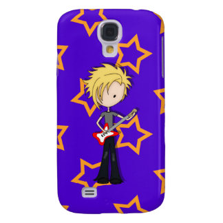 Teen Emo Rock Guitarist Musician with Blonde Hair Samsung Galaxy S4 Cover