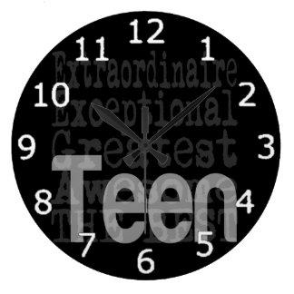 Teen Extraordinaire Large Clock