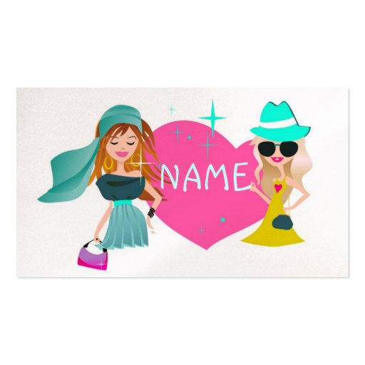 Teen Fashion Double-Sided Standard Business Cards (Pack Of 100)