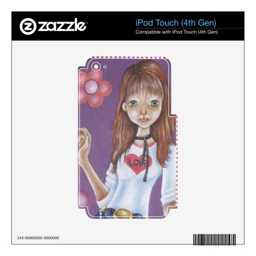 TEEN GIRL DECALS FOR iPod TOUCH 4G