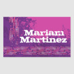 Teen girl sports name purple pink id label sticker