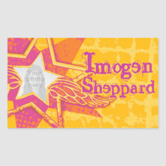 Teen girls named yellow pink id label sticker