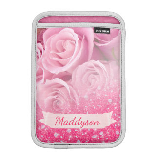 Teen Girls Personalized Sparkly Glitter Rose Sleeve For iPad Mini