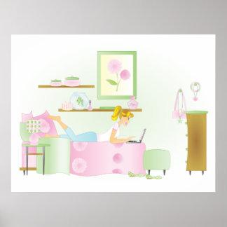 Teen Girl's Room Poster