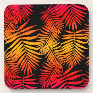 Teen Girls Women's Decor Tropical Palm Tree Leaf Drink Coaster