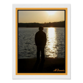 Teen in Sunset Fine Art Photography Poster