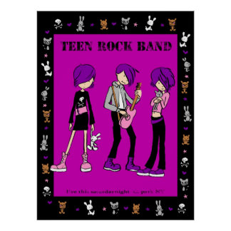 Teen Rock Band Poster