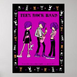Teen Rock Band Poster