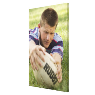 Teen scores try. canvas print