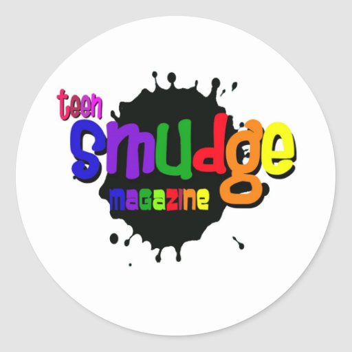 Teen Smudge Magazine Products Classic Round Sticker