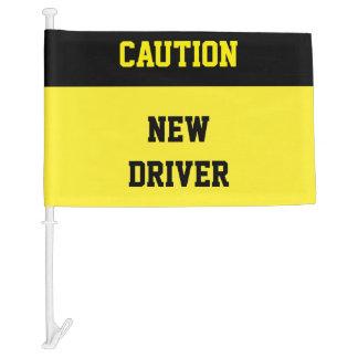 Teen Student Driver Car Flag