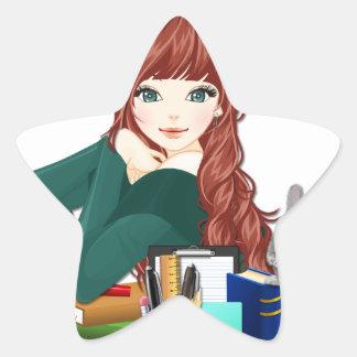 Teen Student Schoolgirl supplies back to school Star Sticker