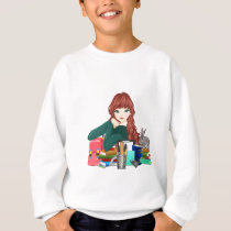 Teen Student Schoolgirl supplies back to school Sweatshirt