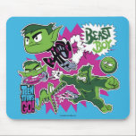 "Teen Titans Go! | Beast Boy Shapeshifts Mouse Pad<br><div class=""desc"">Beast Boy has shapeshifting abilities, transforming himself into any animal he&#39;s ever seen. Check out Beast Boy running super fast, playing video games, transformed into a giant gorilla, a pizza hungry crocodile, and a basketball (thanks to Trigon). Get your Teen Titans Go! Beast Boy graphic on a shirt, tote bag,...</div>"