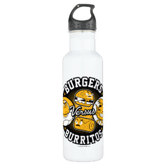 Teen Titans Go! | Burgers Versus Burritos Stainless Steel Water Bottle
