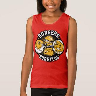 Teen Titans Go!   Burgers Versus Burritos Tank Top