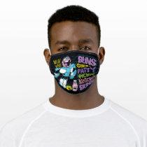 Teen Titans Go!   Cyborg Burger Rap Adult Cloth Face Mask