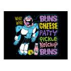 Teen Titans Go! | Cyborg Burger Rap Postcard