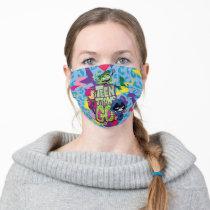 "Teen Titans Go!   ""Girls Girls"" Animal Print Logo Adult Cloth Face Mask"