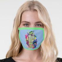 """Teen Titans Go!   """"Girls Girls"""" Animal Print Logo Face Mask"""