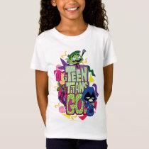 "Teen Titans Go! | ""Girls Girls"" Animal Print Logo T-Shirt"