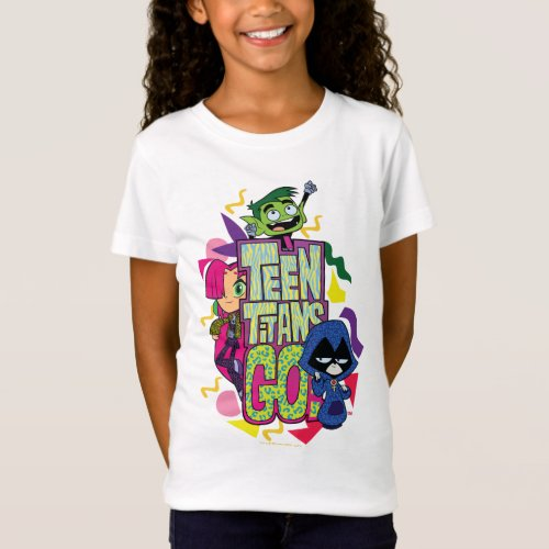 Teen Titans Go  Girls Girls Animal Print Logo T_Shirt