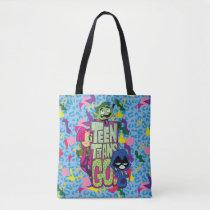 "Teen Titans Go!   ""Girls Girls"" Animal Print Logo Tote Bag"