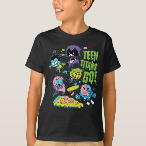 Teen Titans Go  Gnarly 90s Pizza Graphic T_Shirt