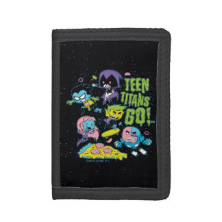 Teen Titans Go! | Gnarly 90's Pizza Graphic Tri-fold Wallet