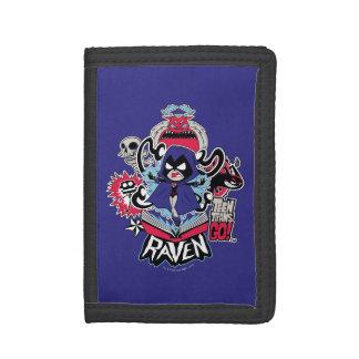Teen Titans Go!   Raven Demonic Powers Graphic Tri-fold Wallet
