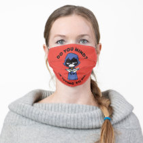 """Teen Titans Go!   Raven """"I'm Trying To Read"""" Adult Cloth Face Mask"""